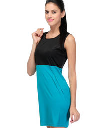 Buy Turq colored round neck dress_m western-wear online