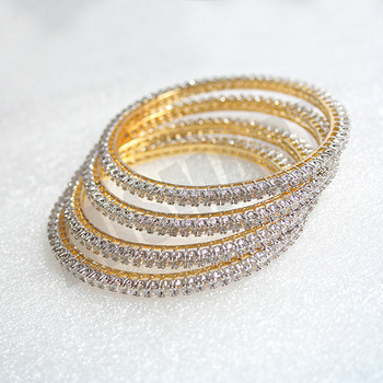 Beautiful AD Bangles Set of 2  with excellent polish & finish