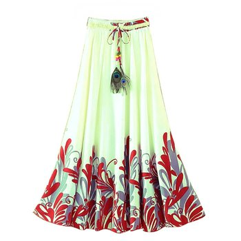 Multicolor printed faux georgette free size skirts