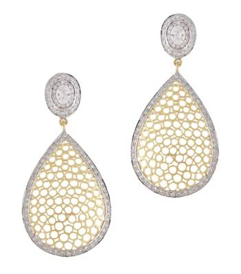 Golden Bubbles Drop Earrings