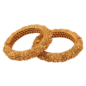 Nice Gold plated antique bangle
