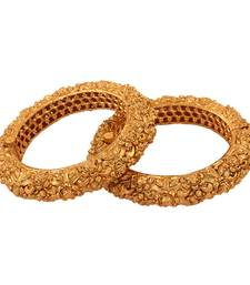 Buy Nice Gold plated antique bangle women-ethnic-wear online