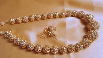 golden beads jaipuri mala