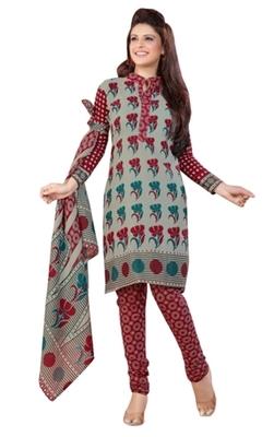Triveni Charming Grey Colored Casual Wear Indian Traditional Salwar Kameez