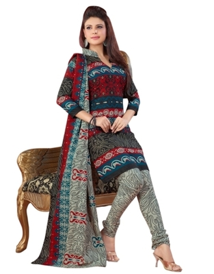 Triveni Charming Multi Colored Casual Wear Indian Traditional Salwar Kameez