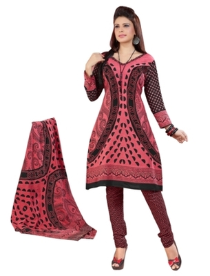 Triveni Charming Peach Colored Casual Wear Indian Traditional Salwar Kameez