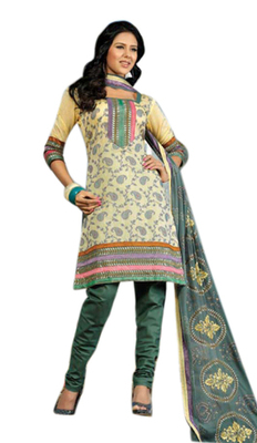 Triveni Smart Light Yellow Printed Casual Salwar Kameez TSRCSK03
