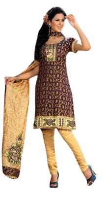 Triveni Amusing Brown Printed Casual Wear Salwar Kameez TSRCSK13