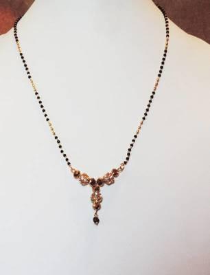 Gold Diamante Pendant Mangalsutra