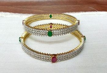 Craftstages Red Green AD Bangles