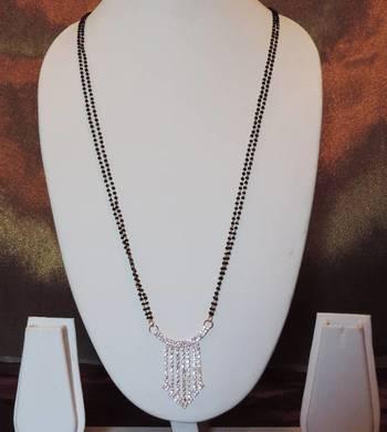 Diamante Stones Pendant Two Chain Mangalsutra