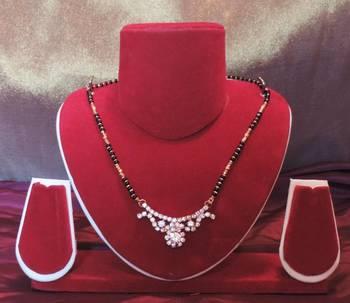 Exquisite Diamante Stones Pendant Thick Chain Mangalsutra