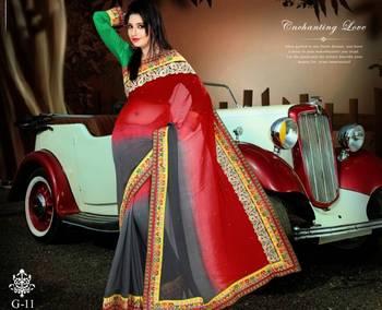Designer Khadi Georgette Saree
