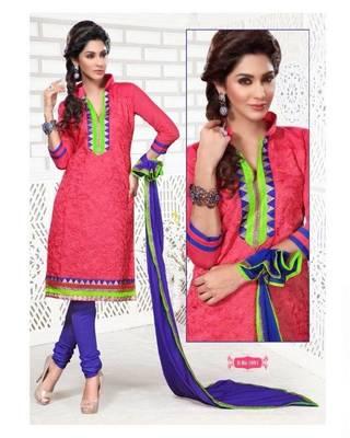 Chanderi / Cotton Silk Cotton Dress Material - DailyWear