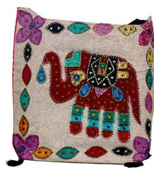Buy Craftstages Pink Jhola Bag which Maroon Elephant Patch potli-bag online