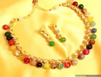 Multicolor Kundan Necklace-Sets