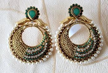 Green Chand Earrings