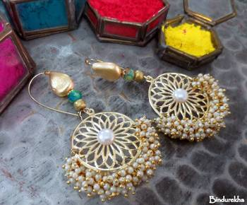 Brass_Wheel_White_Ghungroo_Latkan_Earrings