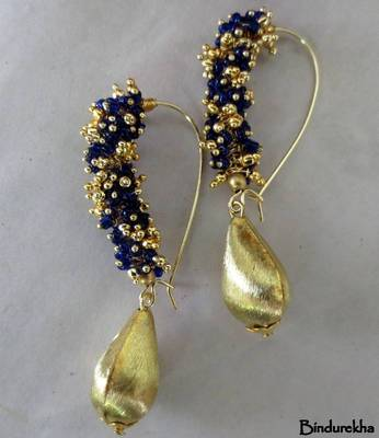 Purple_Ghungroo_Brass_Drop_Earrings