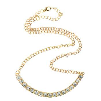 DIOVANNI American Solitaire Game of Desire Diamond-studded Gold Necklace