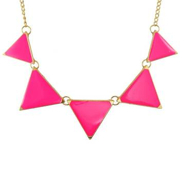 DIOVANNI Young and Beautiful in Pink Geometric Statement Necklace