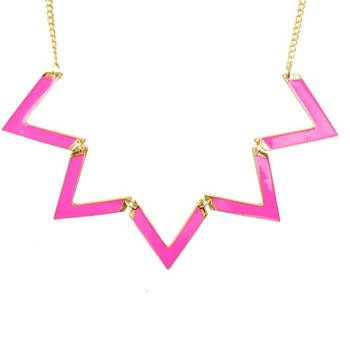 DIOVANNI Cool Status Whats Up in PINK Statement Necklace