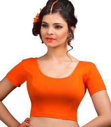 Orange cotton lycra  readymade blouse
