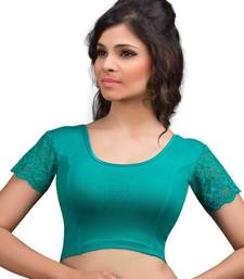 Buy Rama and green cotton lycra  readymade blouse plus-size-blouse online