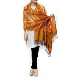 Buy HAND WOVEN SILK IKAT STOLE stole-and-dupatta online