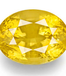 Buy 6.25 carat certified yellow sapphire pukhraj gemstone loose-gemstone online