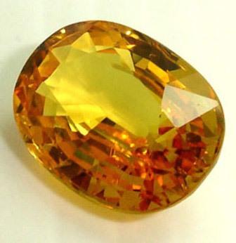 5.25 carat certified yellow sapphire pukhraj gemstone
