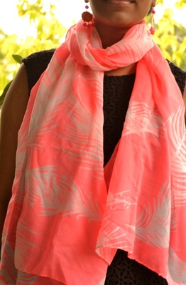 Designer quirky trendy printed multicolour scarf