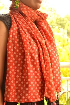 Designer quirky trendy printed multicolour scarf