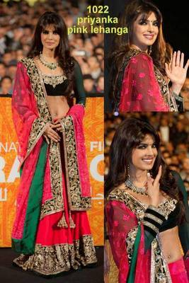 Priyanka in pink lahenga