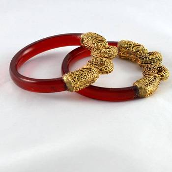 Stretchable Bangles 21Cut Trans Red
