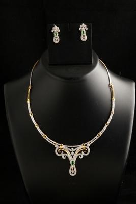 Beautiful american diamond necklace