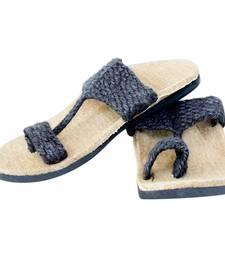 Buy Graphite brun jute male slip on footwear online