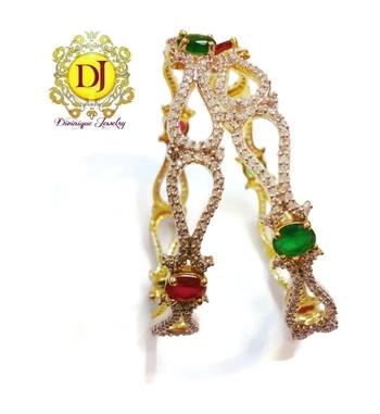 Ruby emrald AD studded Bracelets