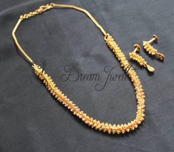 GORGEOUS GOLD PLATED DESIGNER ELEGANT NECKLACE SET