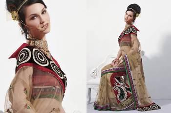 Designer Pure Net Saree