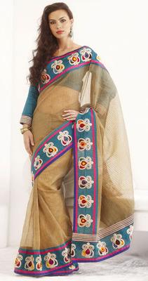 Bhagalpuri Khadi Silk Lining Saree