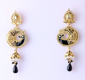 AZURE JHUMKA EARRINGS
