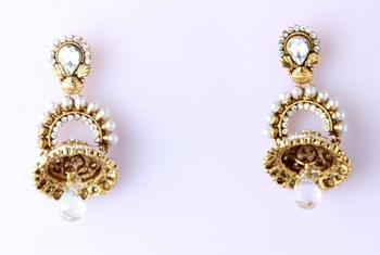 FOLIAGE JHUMKA EARRINGS