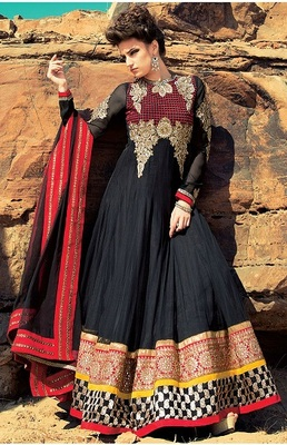 Awesome Party Wear Designer Long Aanarkali