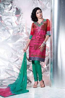 Cotton Embroidered Salwar kameez Dress Material SC1508