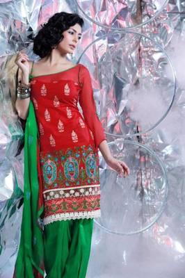 Cotton Embroidered Salwar kameez Dress Material SC1511