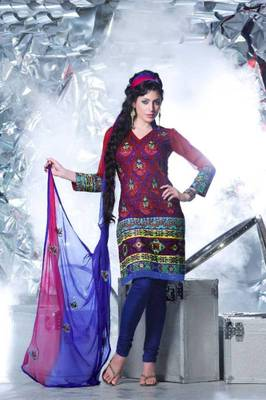 Cotton Embroidered Salwar kameez Dress Material SC1518