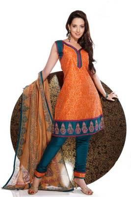 Chanderi Cotton Embroidered Salwar kameez Dress Material SCFM21B