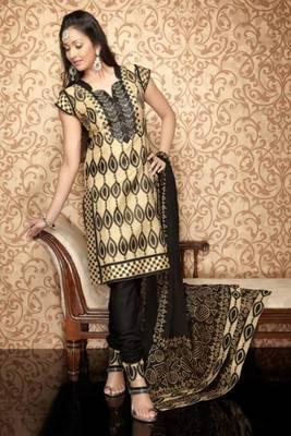 Chanderi Cotton Embroidered Salwar kameez Dress Material SCTRB11