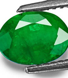 Buy 4.25 carat natural Emeralg panna gemstone with lab certified loose-gemstone online